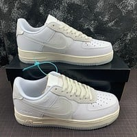 Morechoice Tuhz Nike Air Force 1 Low Transparent Swoosh Sneakers Casual Skaet Shoes Cv3040-100
