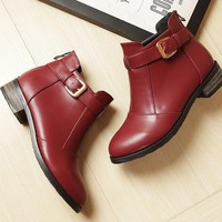 Ankle boots shoes woman boots womens boot flat heel