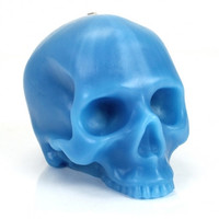 D.L.&Co Large Skull Candle - Blue