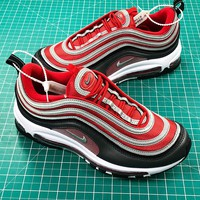 Nike Air Max 97 Red Grey Sport Running Shoes - Best Online Sale