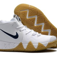 Nike Kyrie Irving 4 IV White/Navy Sport Shoes US7-12