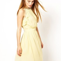 French Connection Crystal Clear Halter Dress
