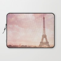Paris in Pink Laptop Sleeve by Legends of Darkness Photography