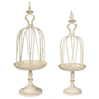 Innovative 2 Piece Metal Bird Cage By Benzara