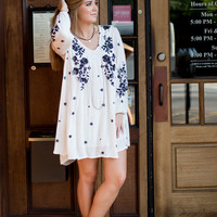 Free People Sweet Tennessee Dress - Ivory Combo