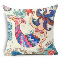 All Things Possible Mermaid Pillow