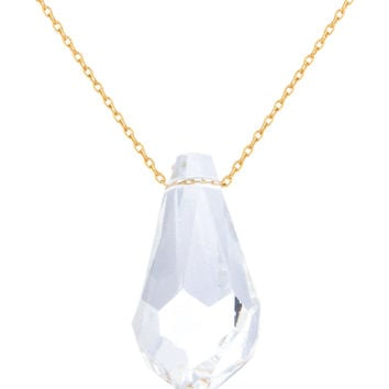 925 Sterling Silver Simulated Crystal 16 Inch Adjustable Necklace - Available in Vermeil and Rhodium