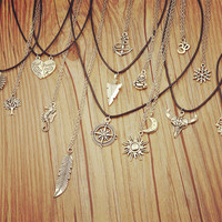 Silver Plated Moon Sun Necklace