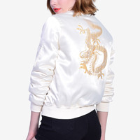 Dragon Back Design Bomber Jacket