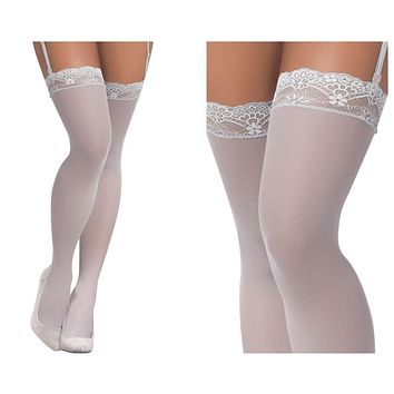 Mapale 1097 Mesh Thigh High Stockings Color Shoreline Gray