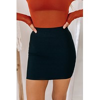 Flirting With Desire Bandage Skirt (Black)