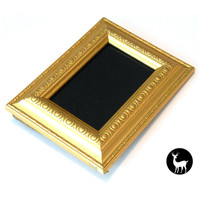 Little Black Mirror with Gold Frame: Scrying Mirror