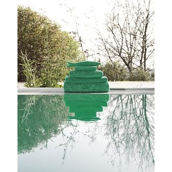 Super Pile Emerald Bath Towels by Abyss & Habidecor