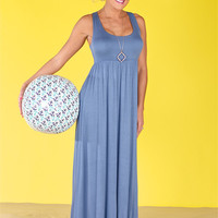 You Should Be Here Maxi Dress - Periwinkle