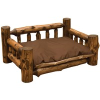 Pastoral Vintage Cedar Dog Bed with Standard Mattress