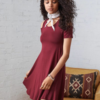 AEO Soft & Sexy Swing Dress, Burgundy
