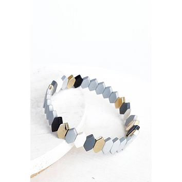Grays colors layering bracelet