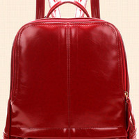 Burgundy Shoulder Backpacks Bag