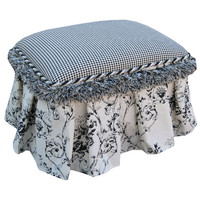 Angel Song 131620127 Toile Black Child Toybox Ottoman
