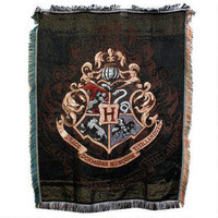 Harry Potter Exclusive Hogwarts Crest Tapestry Throw  