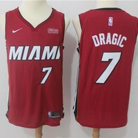 NBA Authentic Basketball Player Jerseys Miami Heat #7 Goran Dragic Red