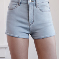 Bullhead Denim Co. Jonie Blue Super High Rise Shorty Denim Shorts at PacSun.com