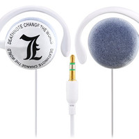 Anime Death Note 3.5 mm Earhook Headphones with 1.2 m Cable (White)