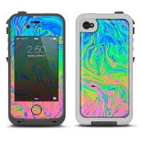 The Neon Color Swirls Skin For The iPhone 4 LifeProof Fre
