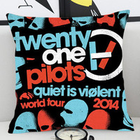 Twenty One Pilots Tour - Pillow Cover by PillowKesetiaan.