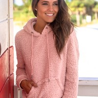 Pink Fuzzy Pullover Sweater