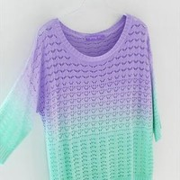 Colorful Gradient Hollow Pullover Sweater26