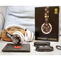Beasts solo 3 Fashion New Listen To Music Wireless Answer The Call Women Men Bear Print Sports Headset