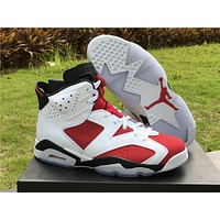 "Air Jordan 6 ""Carmine"" Basketball Shoes Size 41----46"
