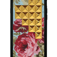 Blue Floral Gold Pyramid iPhone 6 Case