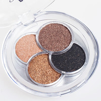 Professional 4 Color Diamond Bright Eyeshadow Makeup Super Flash Shining Glitter Eye Shadow Pigment Powder Palette sombra