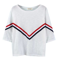 Striped T-shirt with Sleeves