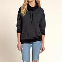 Colorblock Cowl Neck Sweatshirt