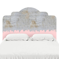Pink on Concrete Headboard Decal
