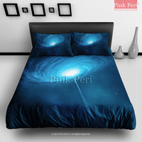 Black Hole's Nebula Galaxy Bedding sets Home & Living Wedding Gifts Wedding Idea Twin Full Queen King Quilt Cover Duvet Cover Flat Sheet Pillowcase Pillow Cover 025