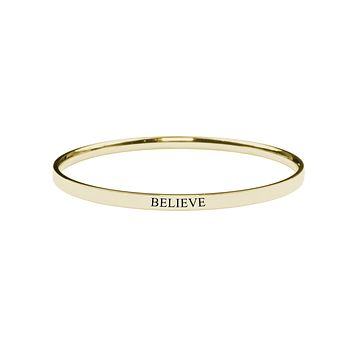 Comfort Fit Stackable Inspirational Bangle by Pink Box