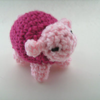 Crochet Pink Lamb Sheep Amigurumi Plush Toy