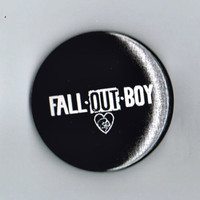 """Fall Out Boy Band Name Logo One and a Half Inch Pin Back Pinback Button Badge 1.5"""""""