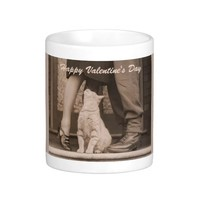 Funny Retro Couple with Cat Valentines Day
