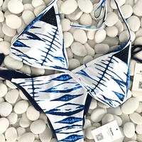Cupshe Cool Sea Wind Halter Bikini Set