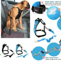 Car Seat Dog Harness and Leash Seat Safety Vehicle Dog Leads Belt 4 Colors For Small Medium Large Pet