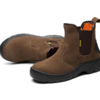 Welder Protective Anti-penetration Iron Toe High Cut  Safety Boot Slip-on shoes