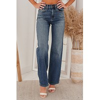 The Complete Package Wide Leg Jeans (Medium Vintage)