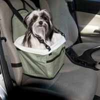 Evelots Pet Booster Seat, Window View Car Ride For Small Pets, Light Green