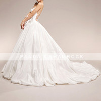 Aphrodite/wedding gown/women clothing/bridal dress/long/straps/sexy back design/custom made/ALL SIZE