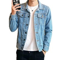 Men Classic Dual Pocket Denim Jean Jacket